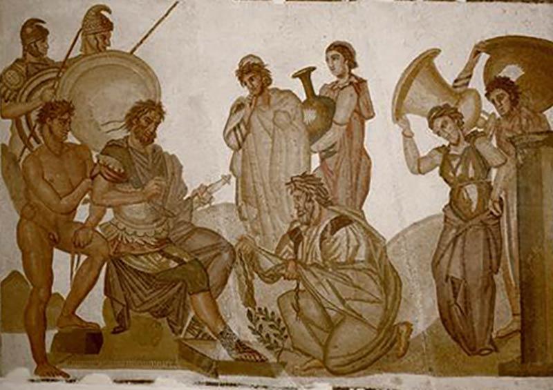 Mosaïque-de-la-maison-des-nymphes-à-Neapolis